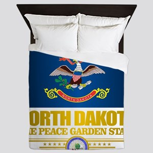 North Dakota Flag Queen Duvet