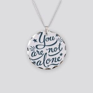 not-alone-LTT Necklace Circle Charm