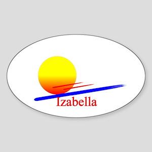 Izabella Oval Sticker