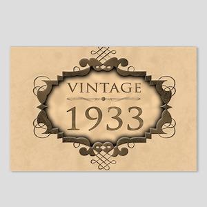 1933 Birthday Vintage (Ru Postcards (Package of 8)