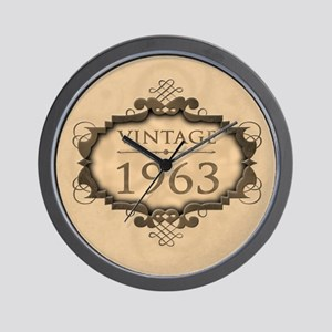 1963 Birthday Vintage (Rustic) Wall Clock