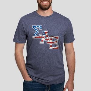 Sigma Alpha Epsilon Stars Mens Tri-blend T-Shirt