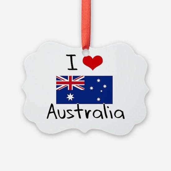 I HEART AUSTRALIA FLAG Ornament