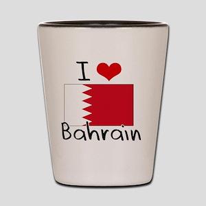 I HEART BAHRAIN FLAG Shot Glass