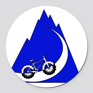 Fat Bike mountain Round Car Magnet