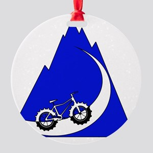 Fat Bike mountain Round Ornament