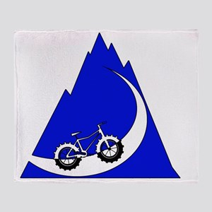 Fat Bike mountain Throw Blanket