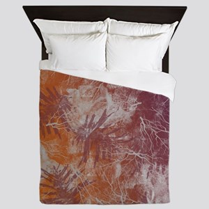 ELECTRIC-RUST Queen Duvet