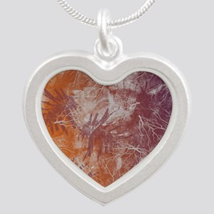 ELECTRIC-RUST Silver Heart Necklace