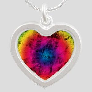 RAINBOWDHELIC Silver Heart Necklace