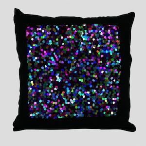 Mosaic Glitter 1 Throw Pillow