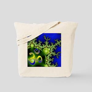 Aum Om Green Blue Yoga Namaste Tote Bag