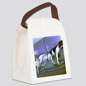 hard to be a dog Canvas Lunch Bag
