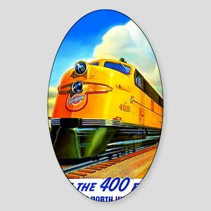 Ride the 400 Fleet Sticker (Oval)
