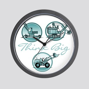 Think Big Construction Vehicles Wall Clock