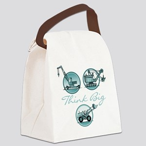 Think Big Construction Vehicles Canvas Lunch Bag