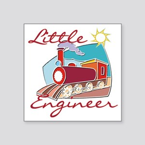 "Little Engineer Train Square Sticker 3"" x 3"""