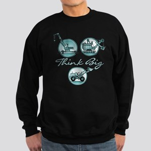 Think Big Construction Vehicles Sweatshirt (dark)