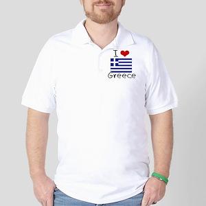 I HEART GREECE FLAG Golf Shirt