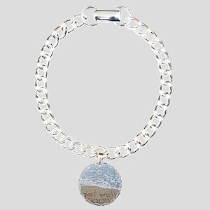 get well Charm Bracelet, One Charm