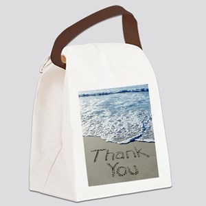 thank you Canvas Lunch Bag