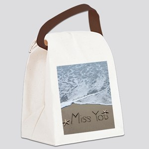 miss you Canvas Lunch Bag