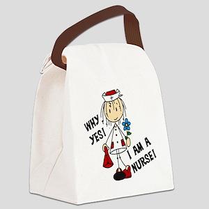 Why Yes I Am A Nurse Canvas Lunch Bag