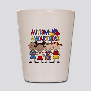 Autism Awareness Shot Glass