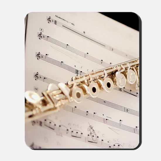 Flute and Music Mousepad