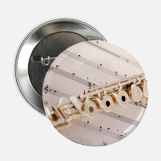 """Flute and Music 2.25"""" Button"""