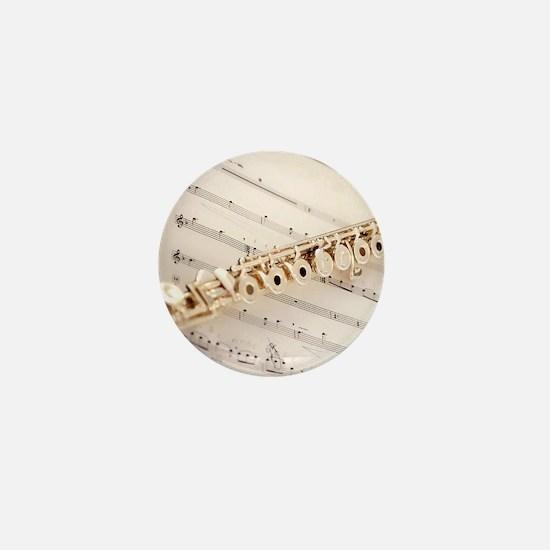 Flute and Music Mini Button