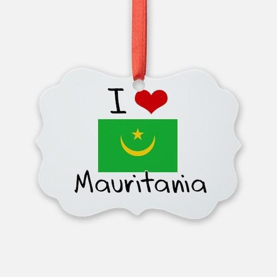 I HEART MAURITANIA FLAG Ornament