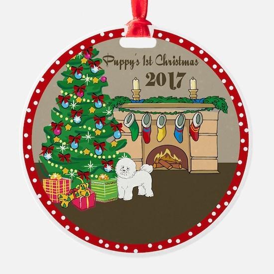 2017 Bichon Frise 1St Christmas Ornament