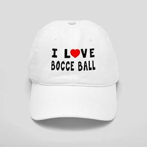 I Love Bocce Ball Cap