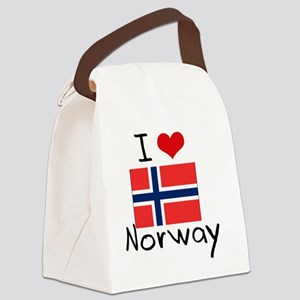 I HEART NORWAY FLAG Canvas Lunch Bag