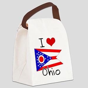 I HEART OHIO FLAG Canvas Lunch Bag