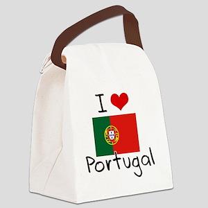 I HEART PORTUGAL FLAG Canvas Lunch Bag