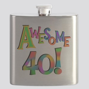 Awesome 40 Birthday Flask