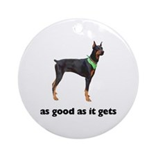 Good Doberman Pinscher Photo Ornament (Round)