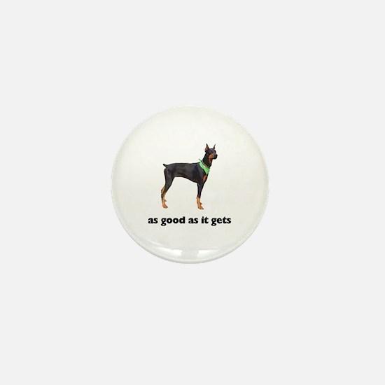 Good Doberman Pinscher Photo Mini Button