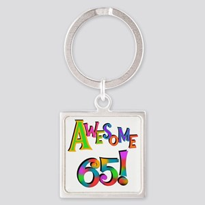 Awesome 65 Birthday Square Keychain