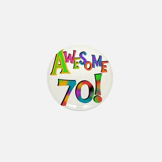 Awesome 70 Birthday Mini Button