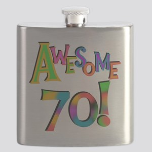 Awesome 70 Birthday Flask