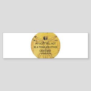 3-VitruvianMan Bumper Sticker