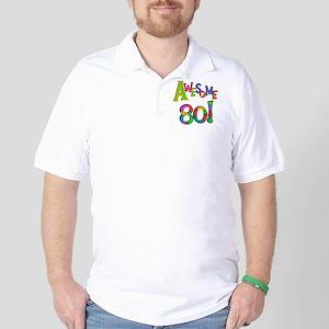 Awesome 80 Birthday Golf Shirt
