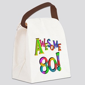 Awesome 80 Birthday Canvas Lunch Bag