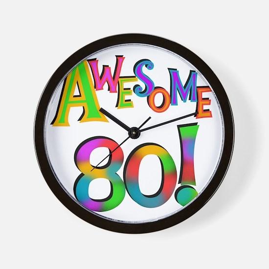 Awesome 80 Birthday Wall Clock