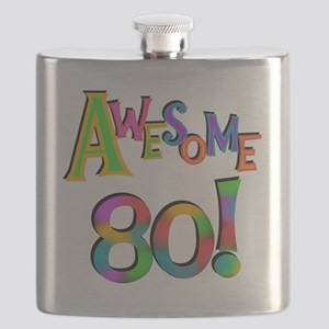 Awesome 80 Birthday Flask