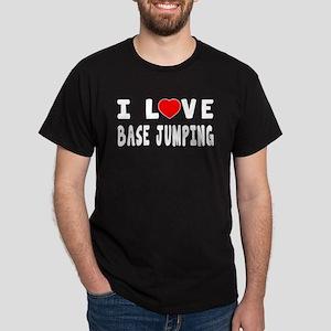 I Love Base Jumping Dark T-Shirt