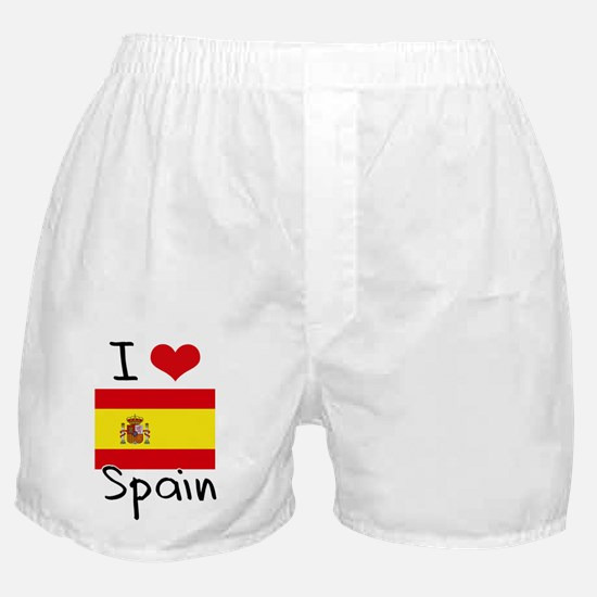 I HEART SPAIN FLAG Boxer Shorts